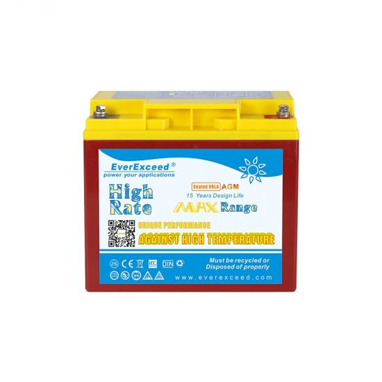 High rate high temperature UPS battery